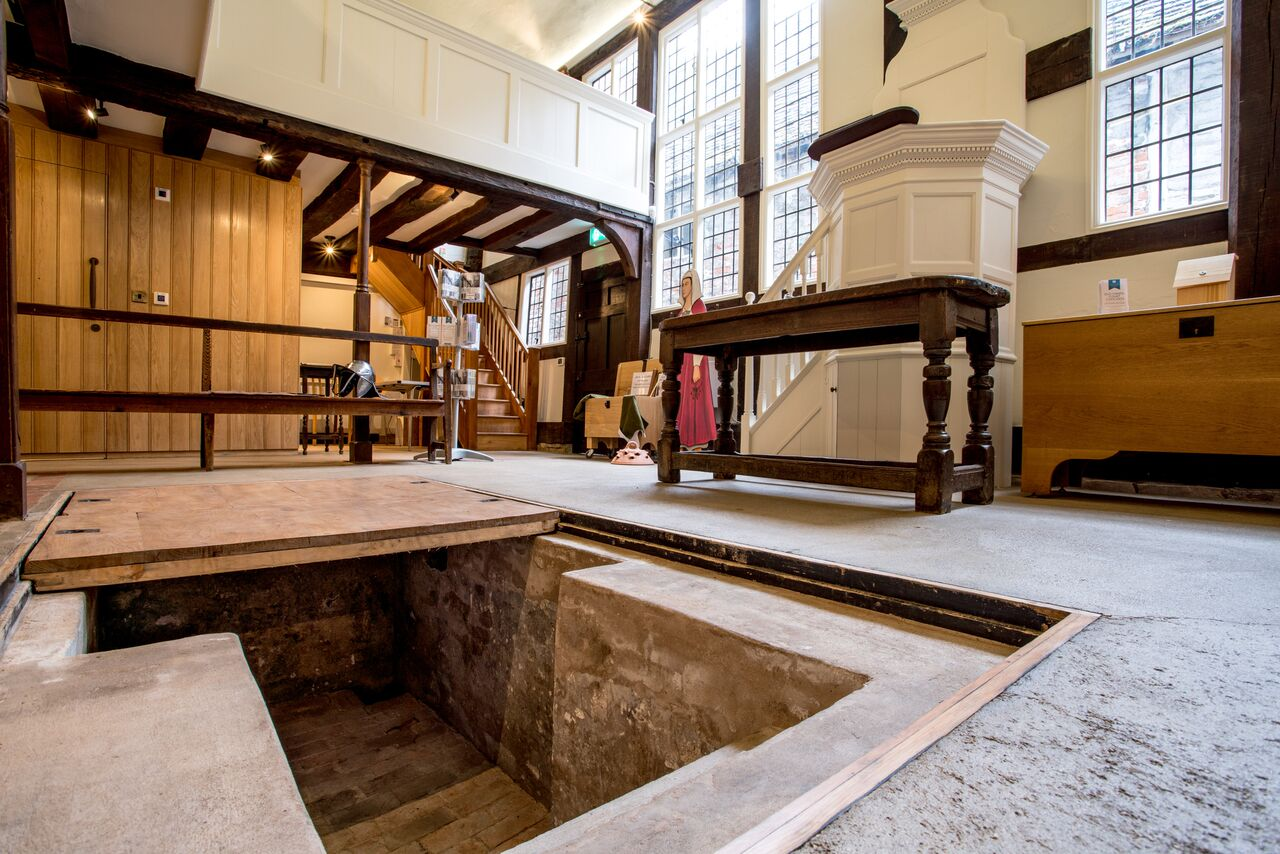 The baptistery in the Old Baptist Chapel, Tewkesbury