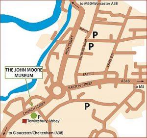 John Moore Museum map