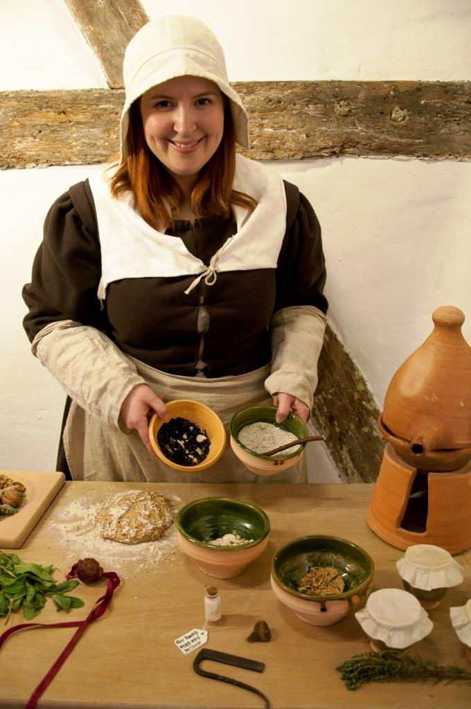 Jemma giving a talk on Tudor food and drink