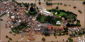 Tewkesbury in the floods, July 2007